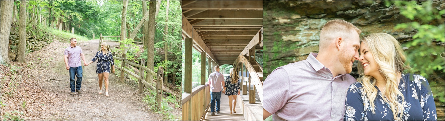 summer engagement photos mill creek park in youngstown ohio