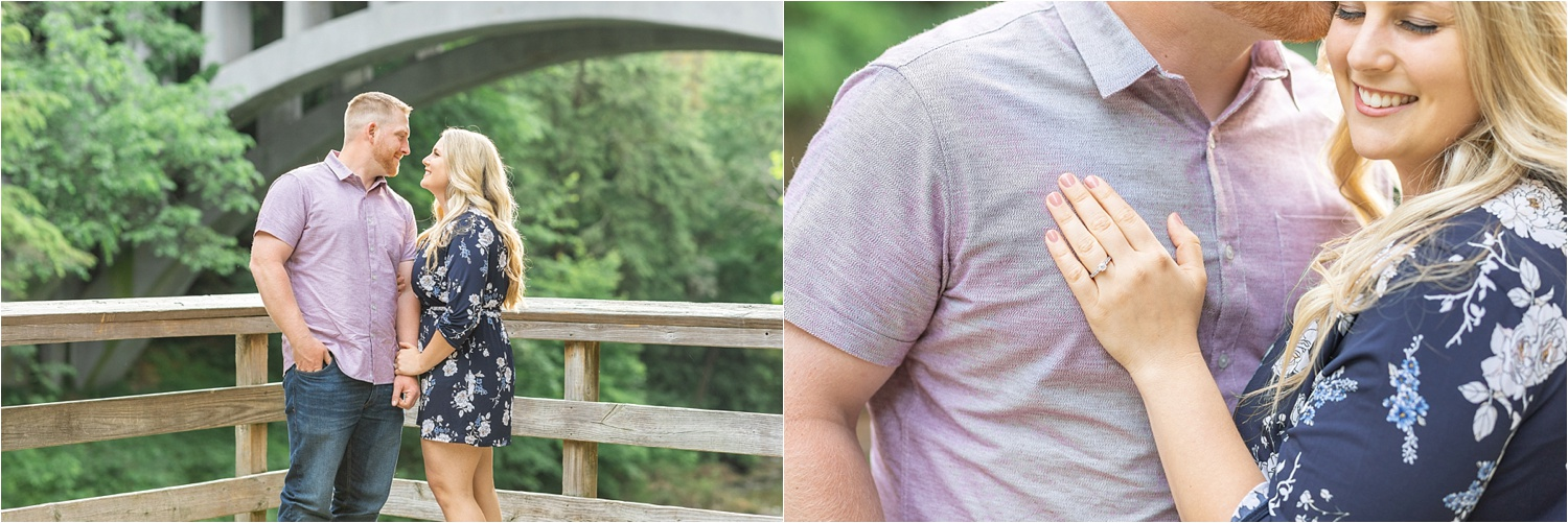 engagement session at lanterman's mill in mill creek park