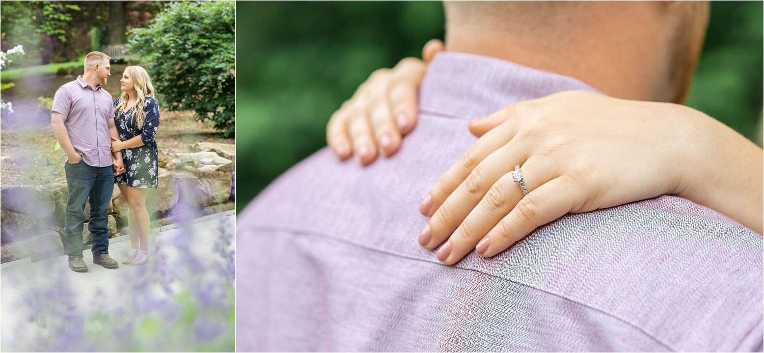 summertime engagement session at fellows riverside gardens in youngstown ohio