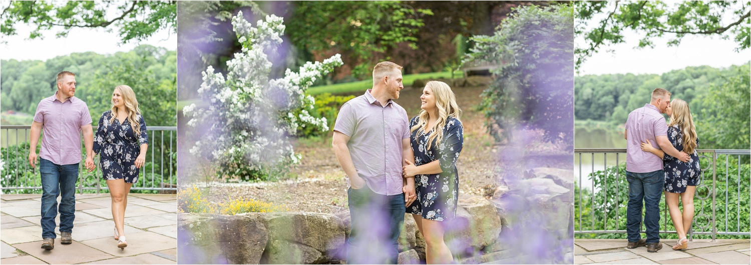 summer engagement photos at fellows riverside gardens in youngstown