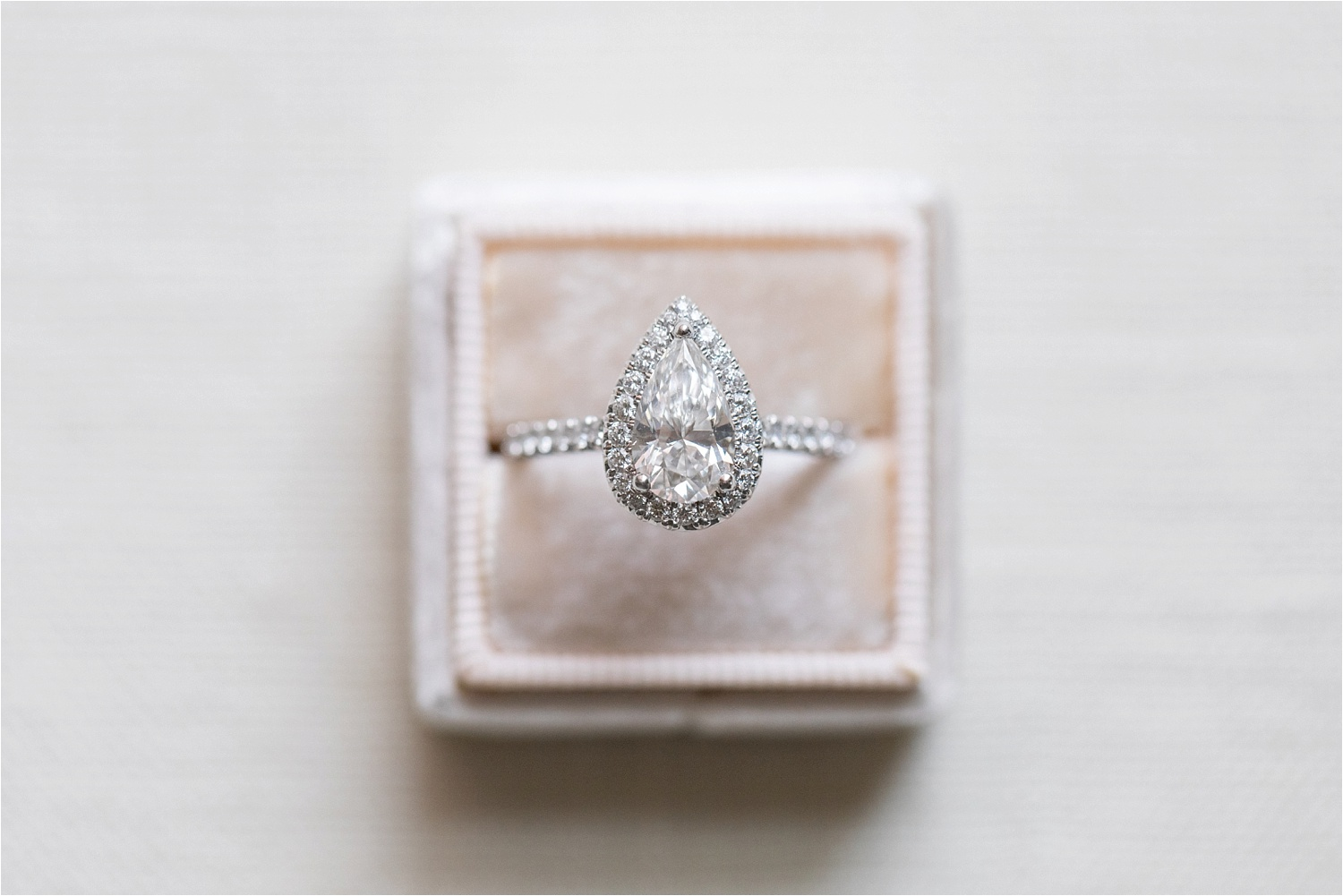 gorgeous pear shaped engagement ring