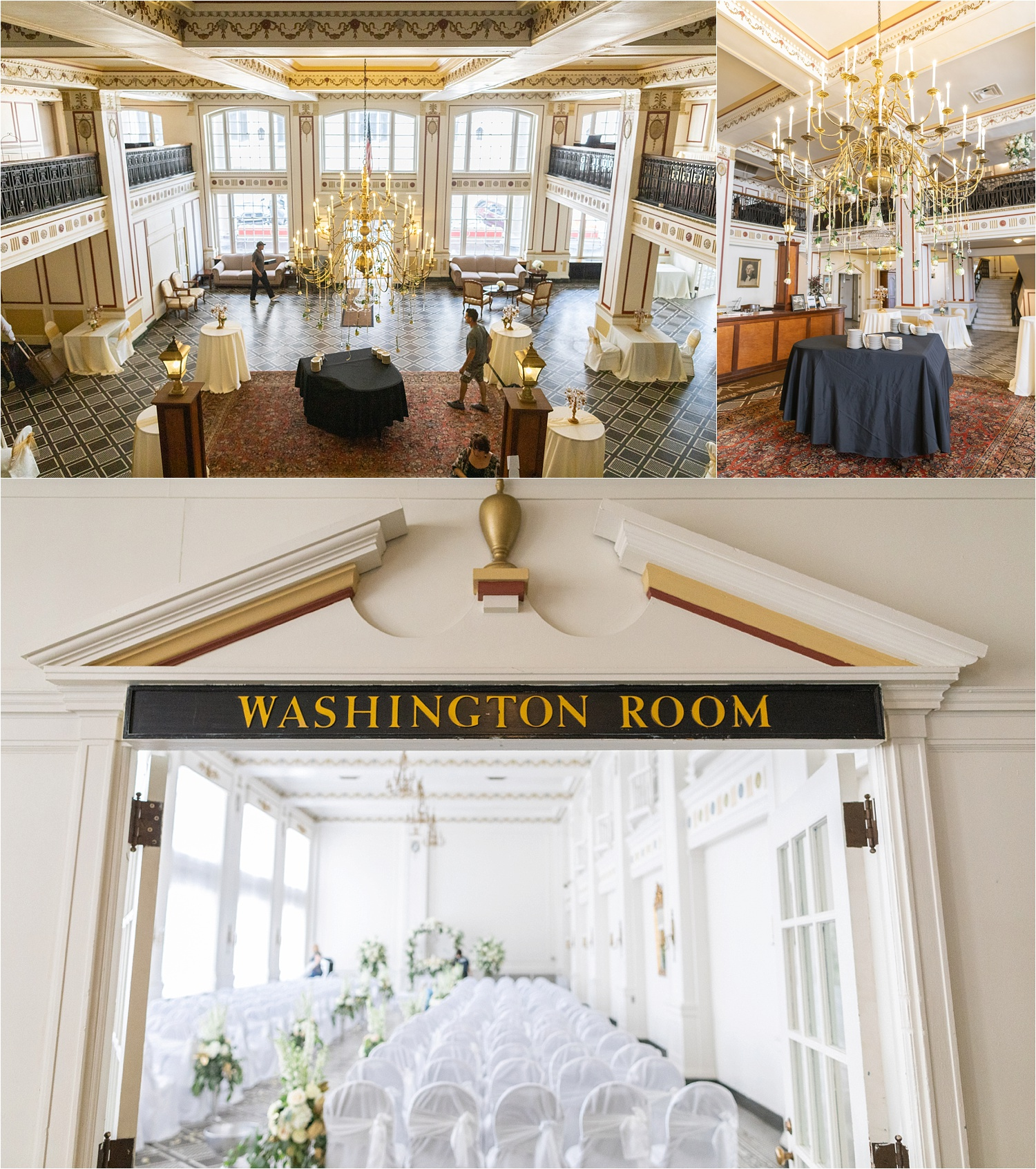 the washington room at the george washington hotel in washington pa