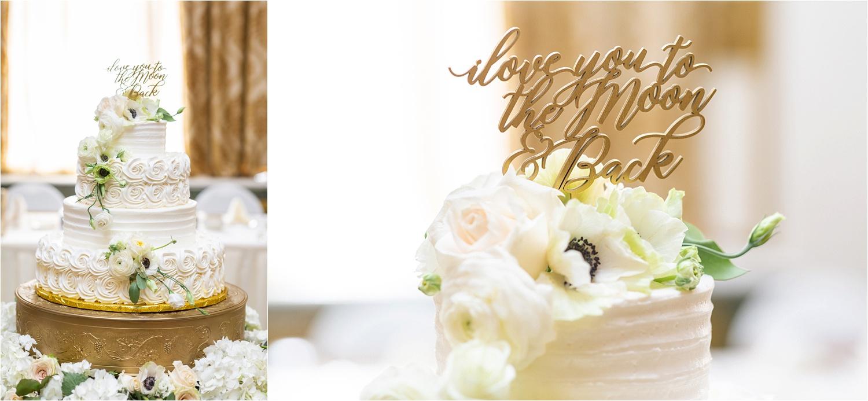 stunning floral designed wedding cake for washington pa wedding at the george washington hotel