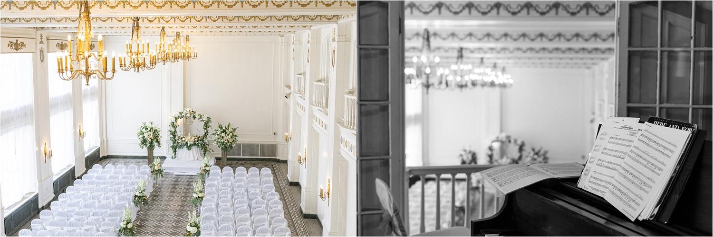 the washington room of the george washington hotel wedding site