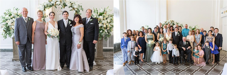 wedding family portraits at the george washington hotel