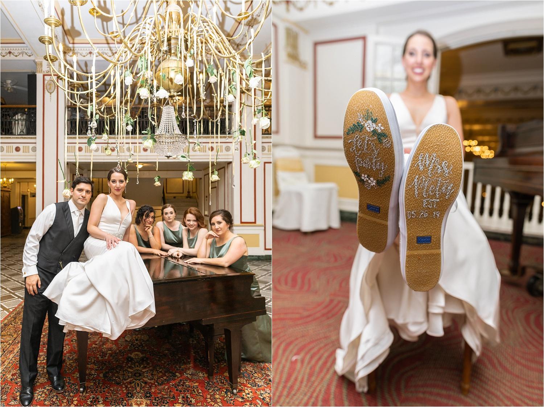 Spenser showing off her custom Kate Spade wedding shoes :)