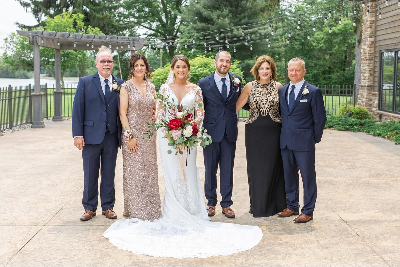 family wedding portraits at the vineyards at pine lake