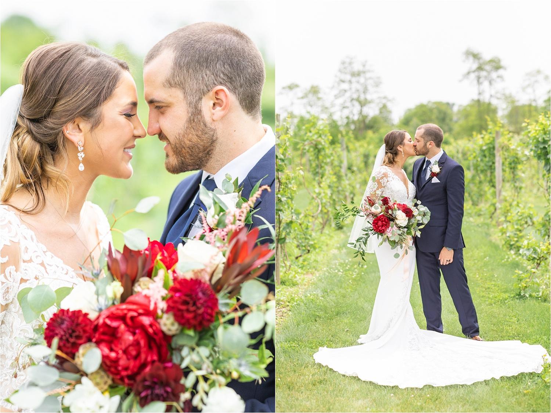wedding portraits at the vineyard at pine lake
