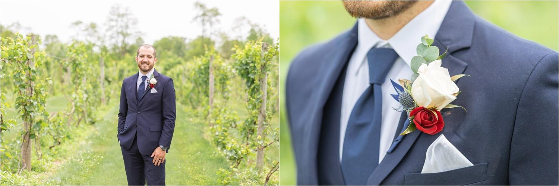 summer wedding photos at the vineyards at pine lake