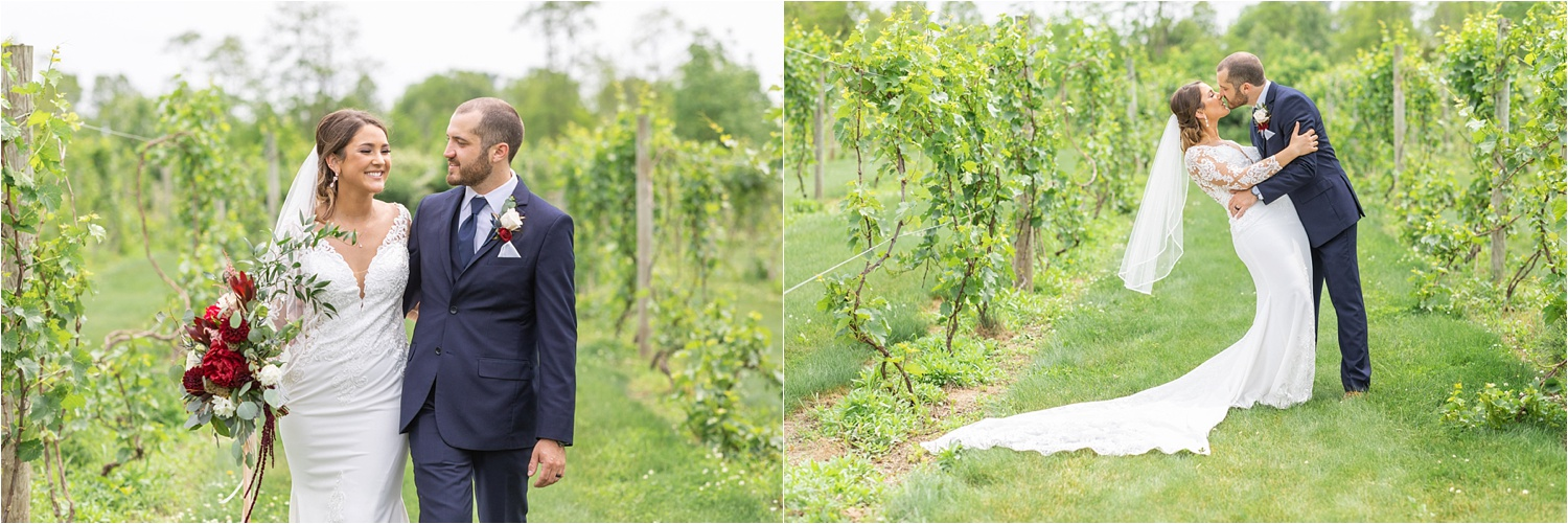 june wedding at the vineyards at pine lake in youngstown, ohio