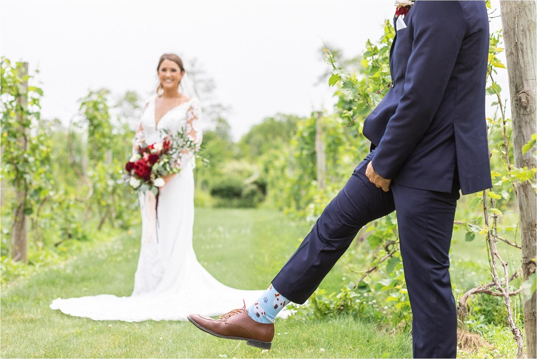The vineyards at pine lake summer wedding