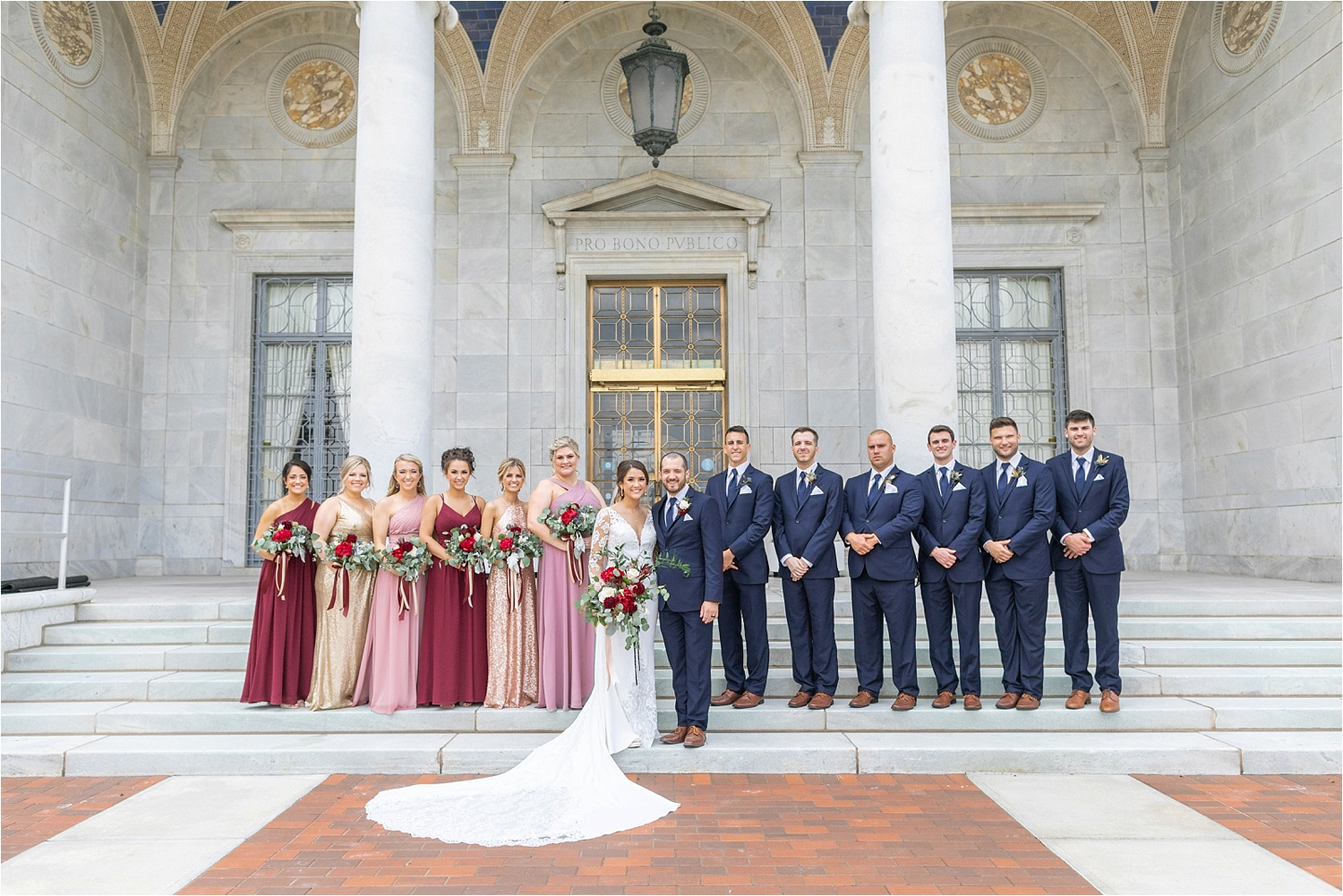 wedding photos at the butler institute of american art in youngstown ohio
