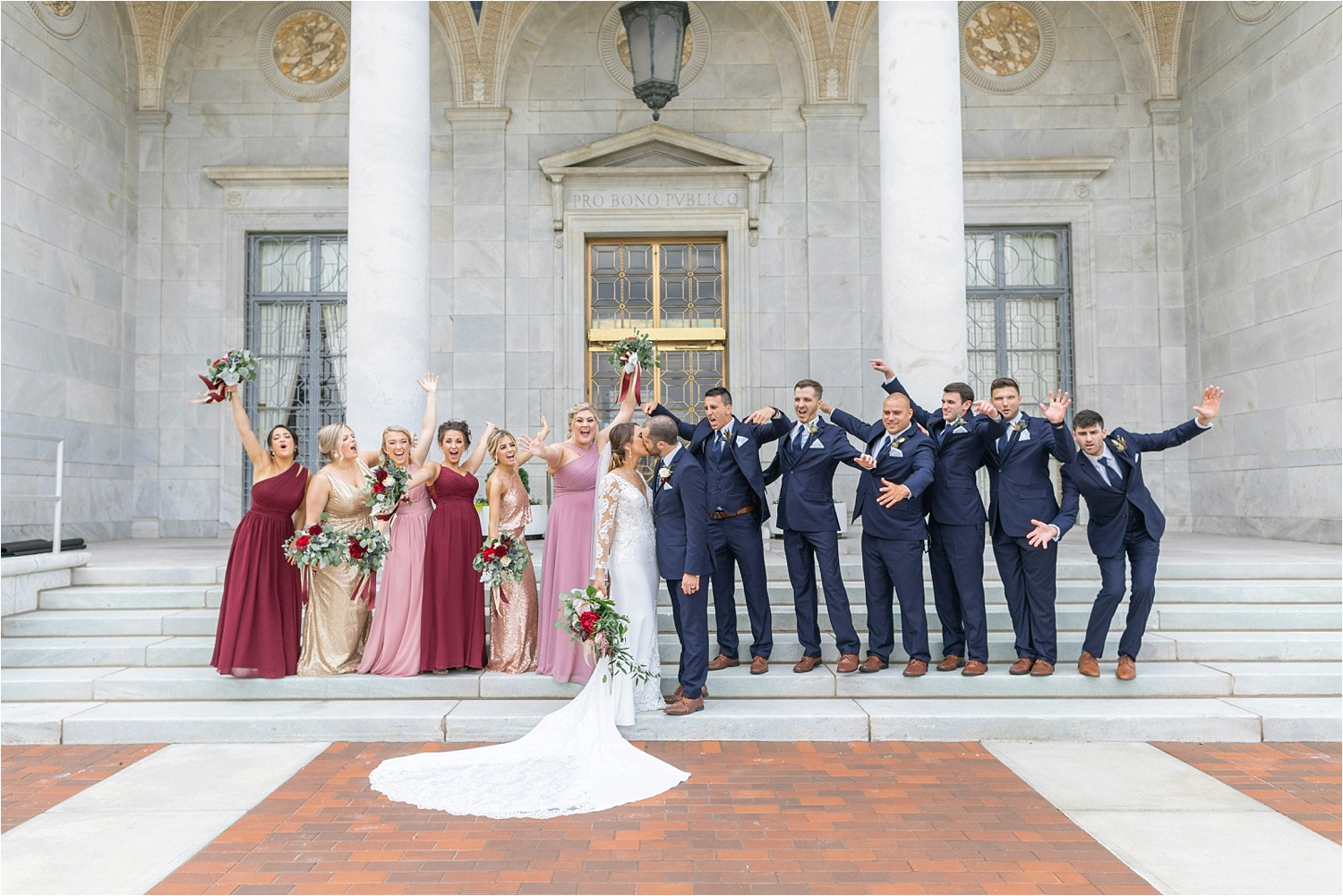 wedding photos at the butler institute of american art in youngstown ohio 2019