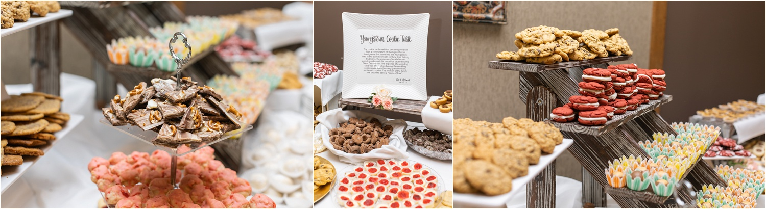 June 2019 youngstown wedding cookie table at the vineyards at pine lake