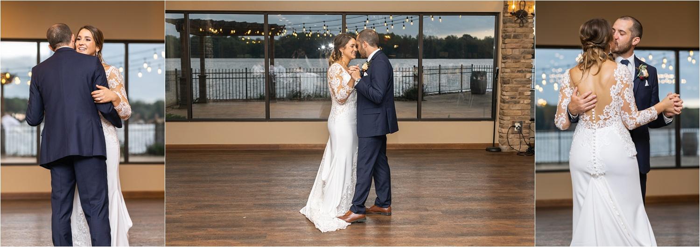 first dance at summer 2019 wedding at the vineyards at pine lake