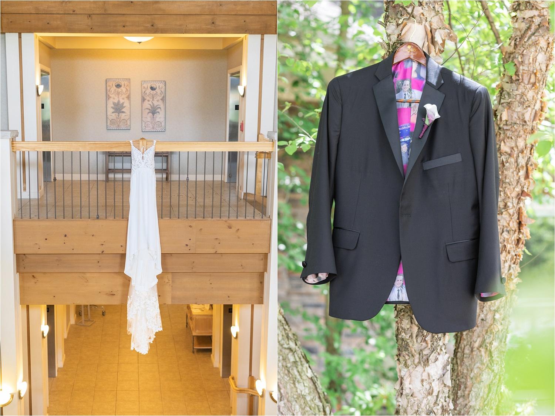 wedding dress styled photo at summer wedding at signature of solon
