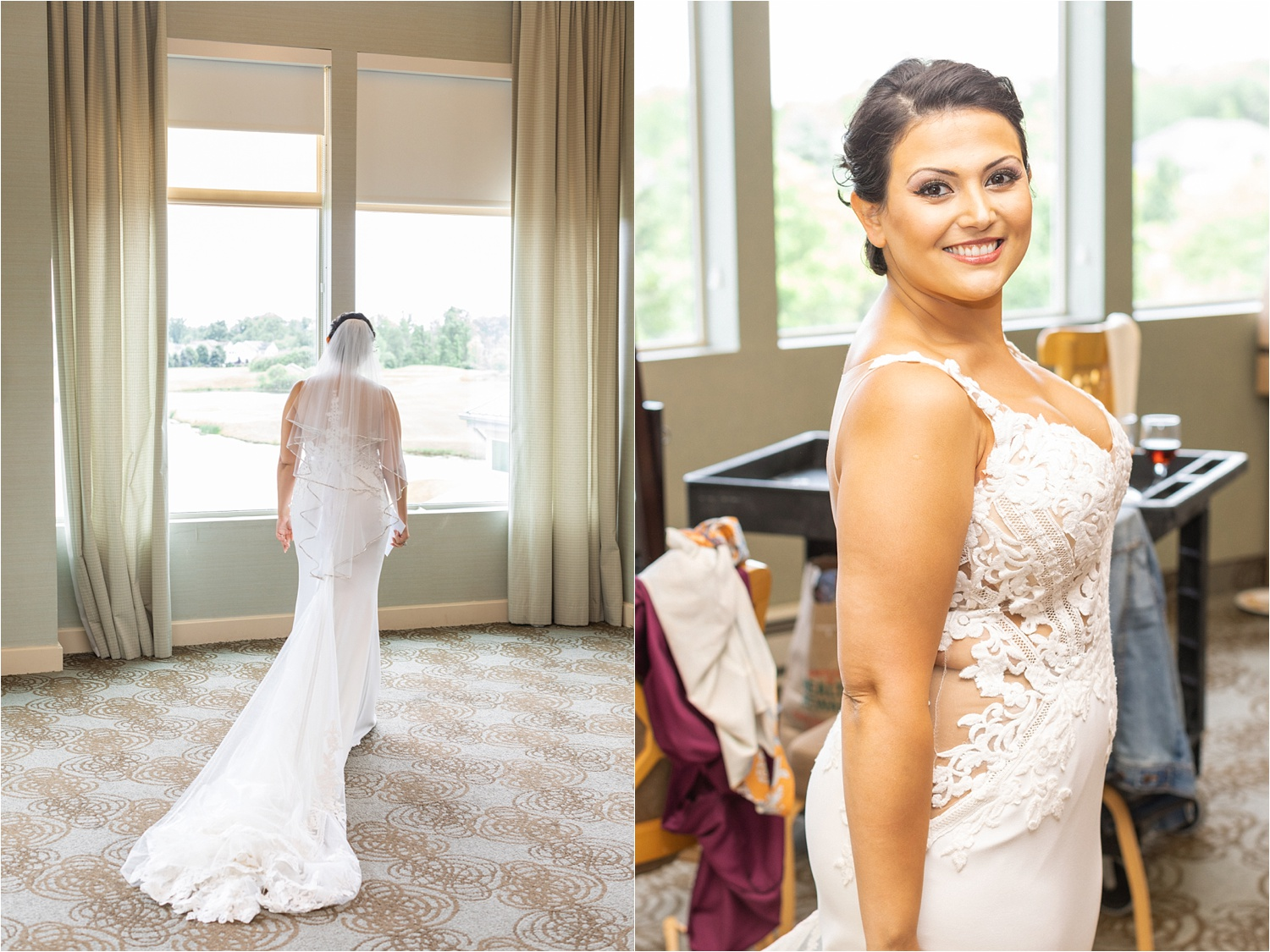 bride getting ready photos at signature of solon wedding