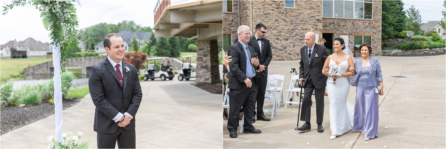 outdoor wedding ceremony at signature of solon