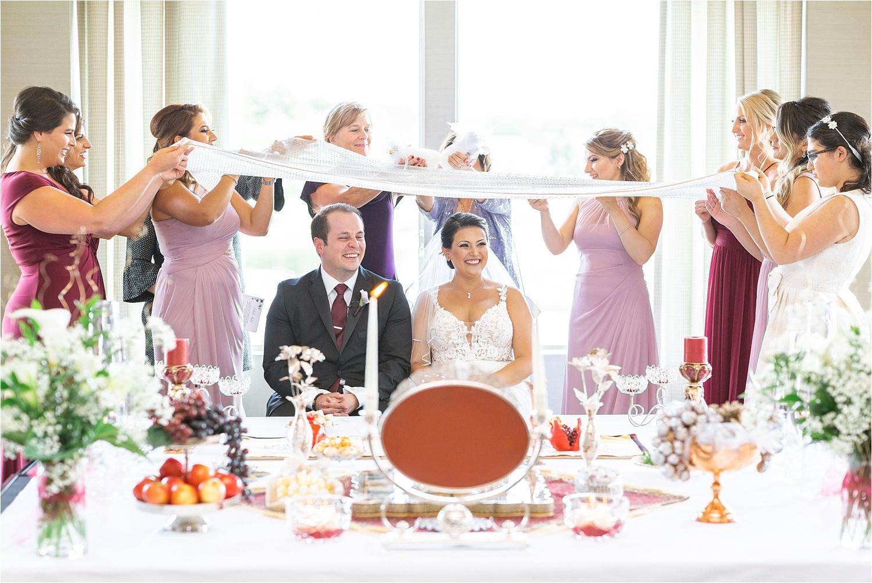 persian american wedding ceremony at signature of solon in solon ohio