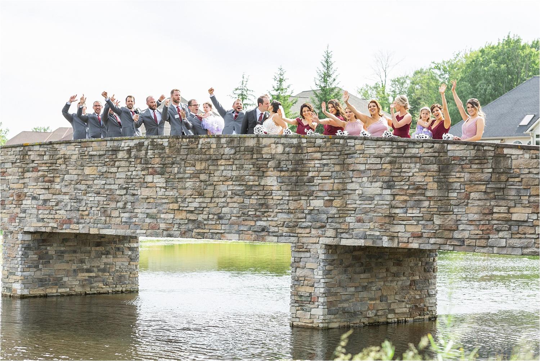 bridal party celebration photo at signature of solon