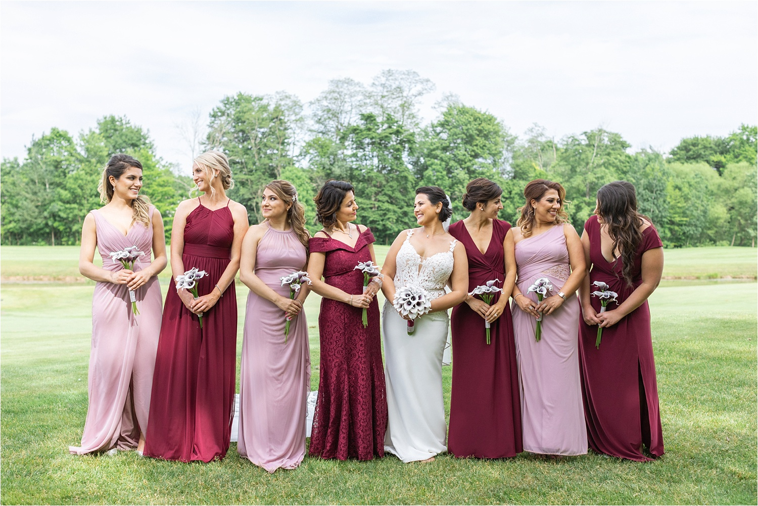 Love these bridesmaids dresses from David's Bridal!