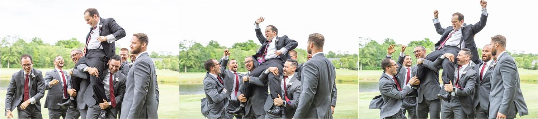 persian american funny groomsmen photos at signature of solon