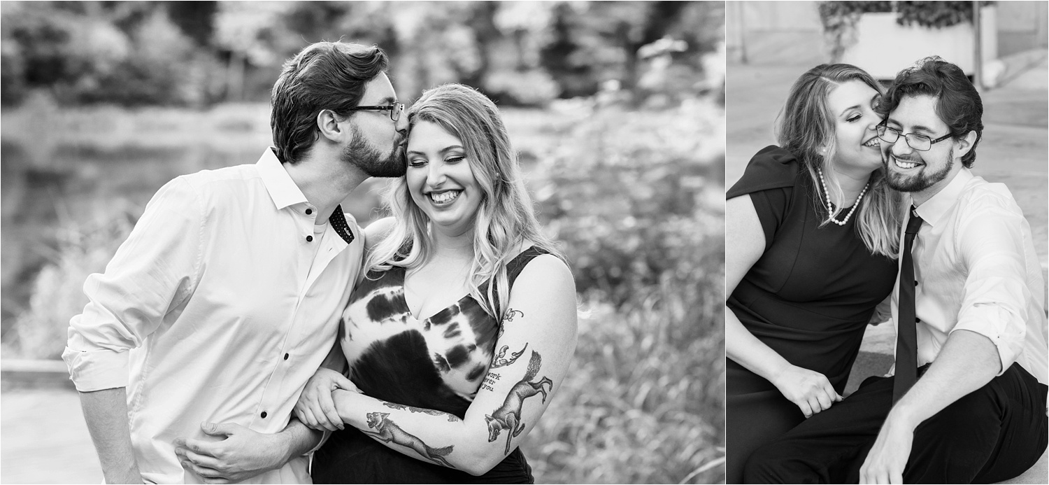 lily pond engagement session in july at mill creek park