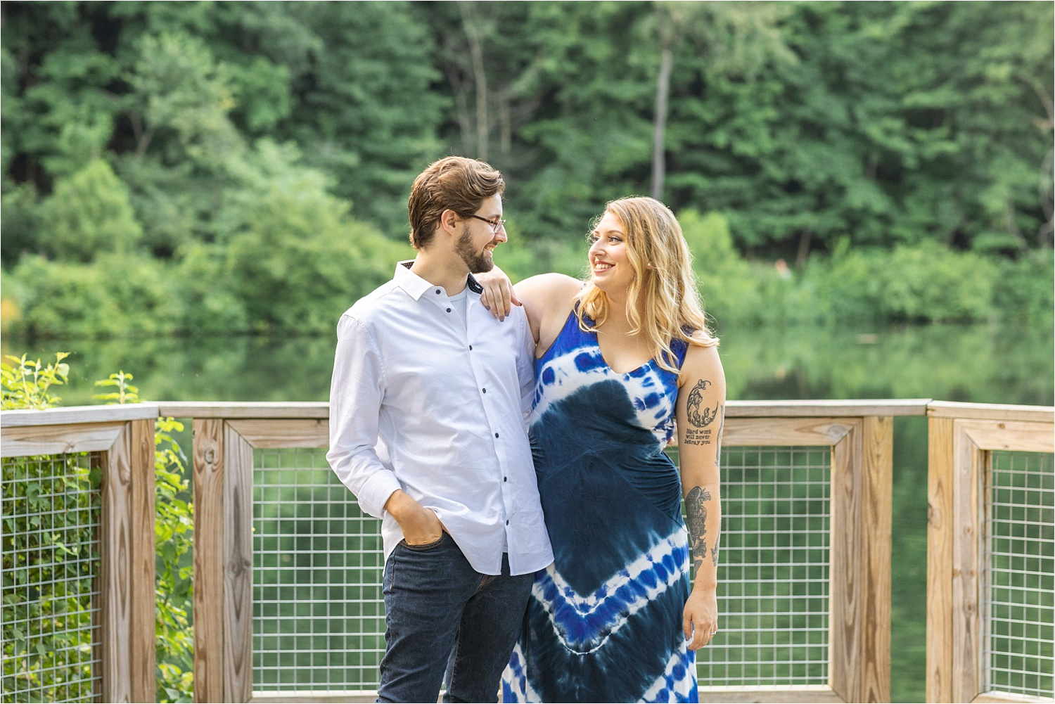 lily pond engagement session in july 2019 at mill creek park
