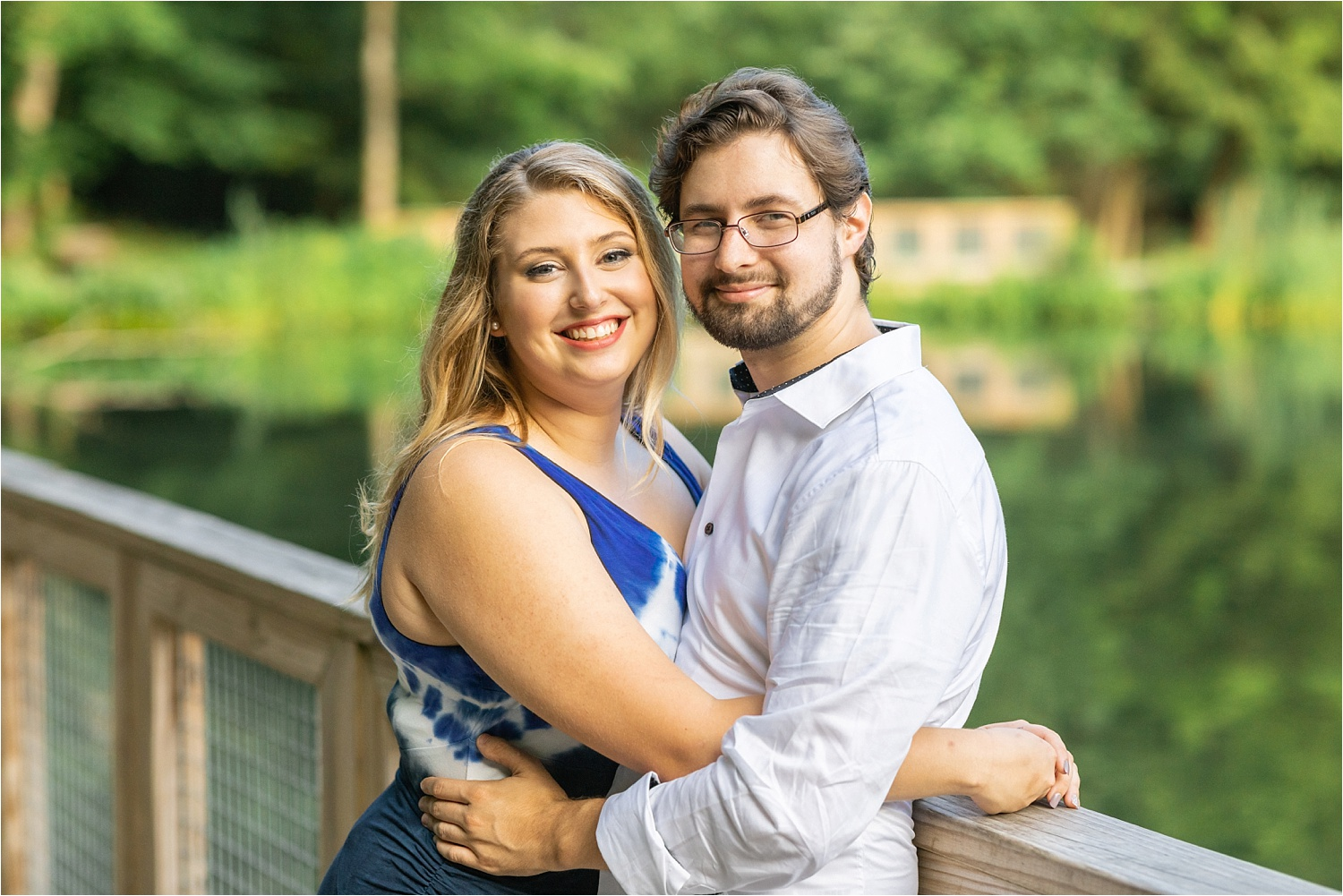 lily pond engagement session july 2019 at mill creek park
