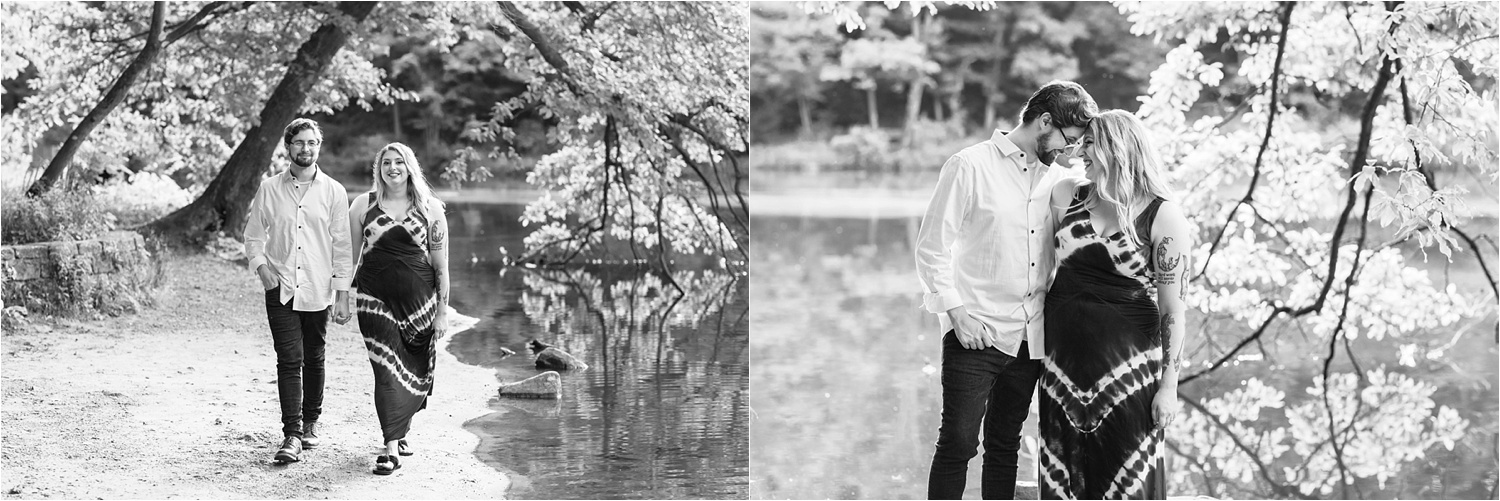 gorgeous summer lily pond engagement session in july 2019 at mill creek park