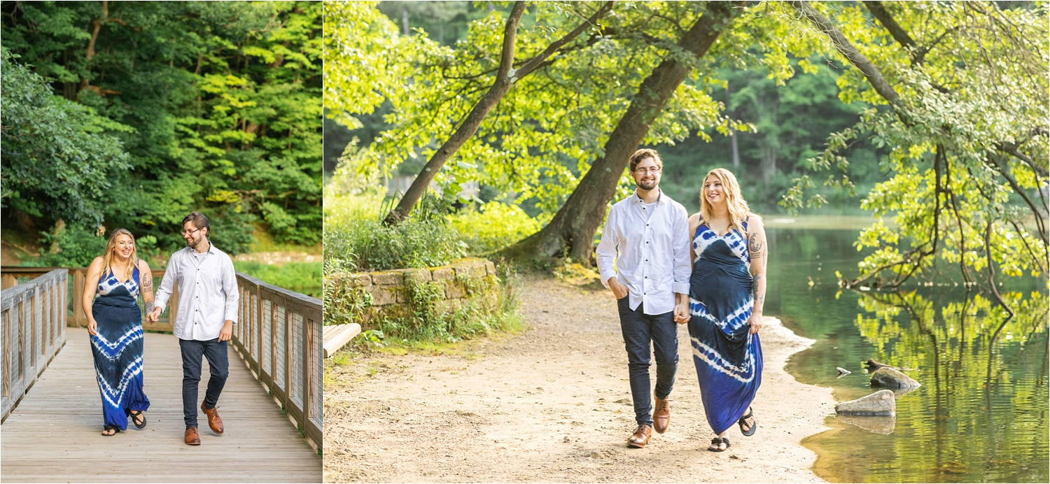 lily pond engagement session in mill creek park