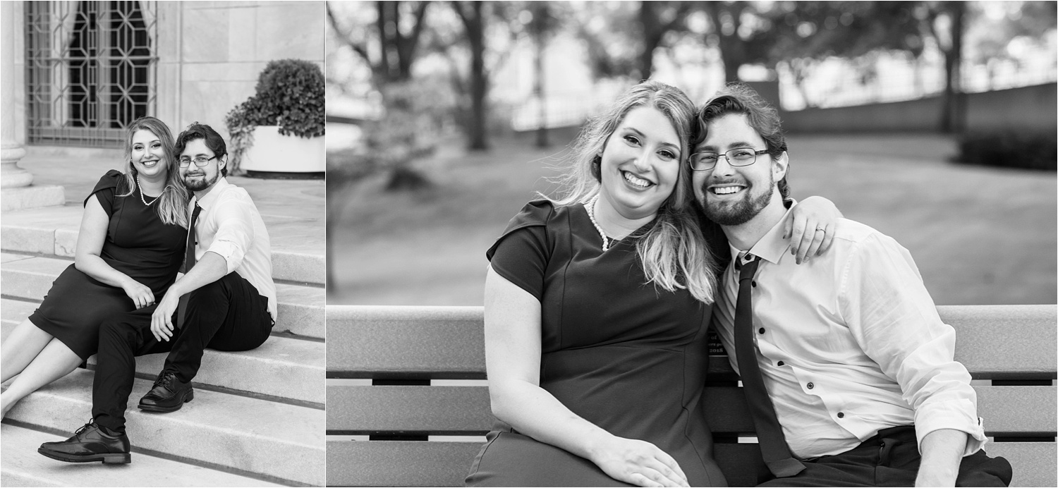 engagement session at youngstown state university and the butler institute of american art