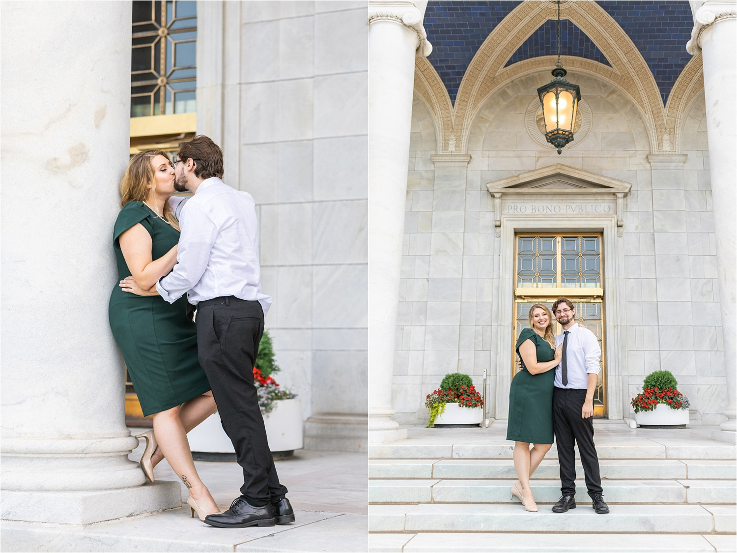 elegant fun engagement session at the butler institute of american art