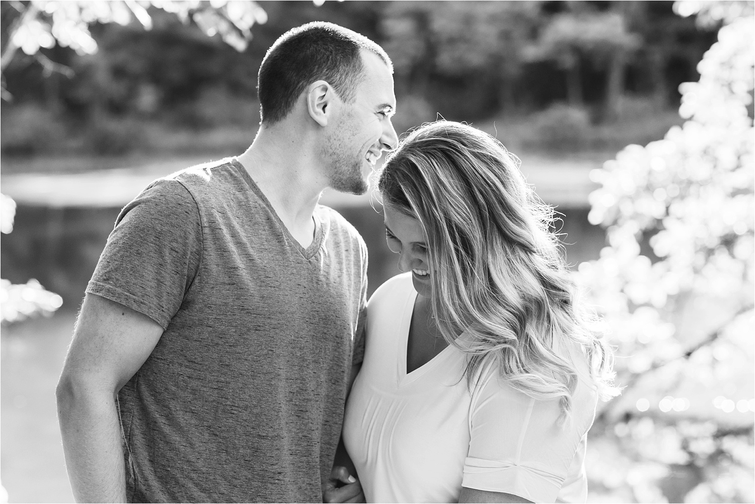 gorgeous sunny engagement photos at lily pond, mill creek park in youngstown july 2019