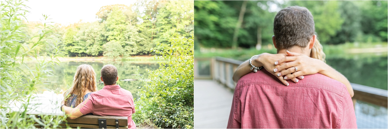 lily pond, mill creek park engagement photos july 2019