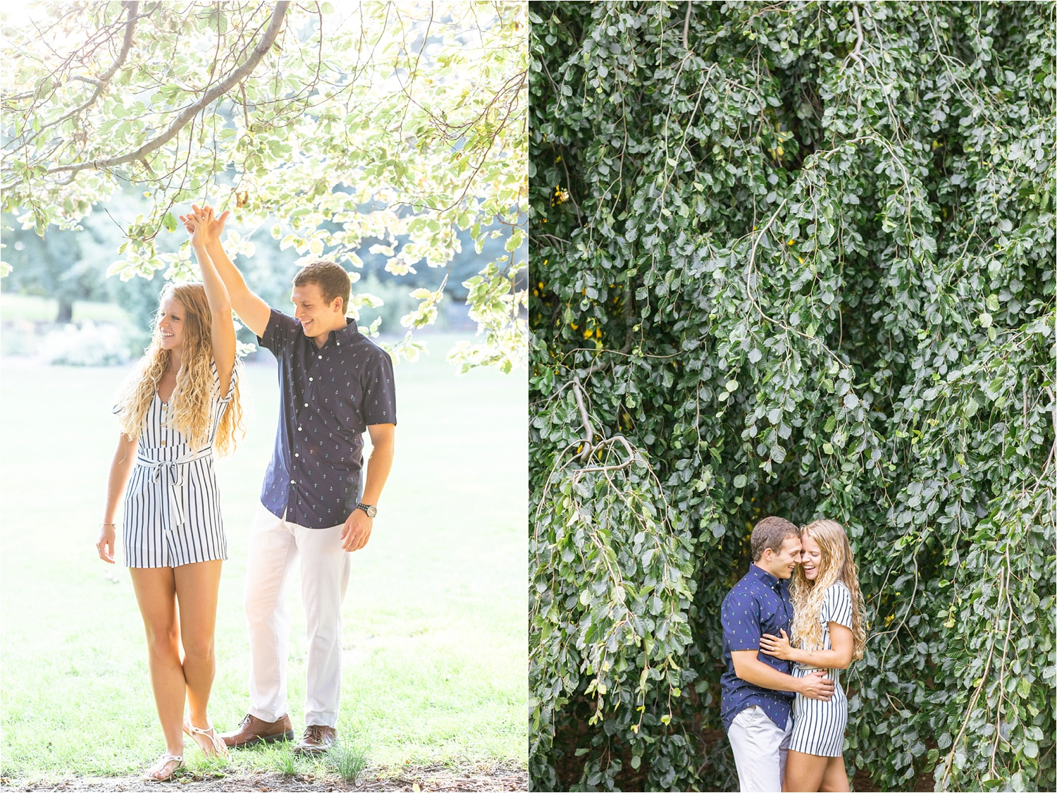 gorgeous fine art light and airy engagement photos at fellows riverside gardens in july 2019