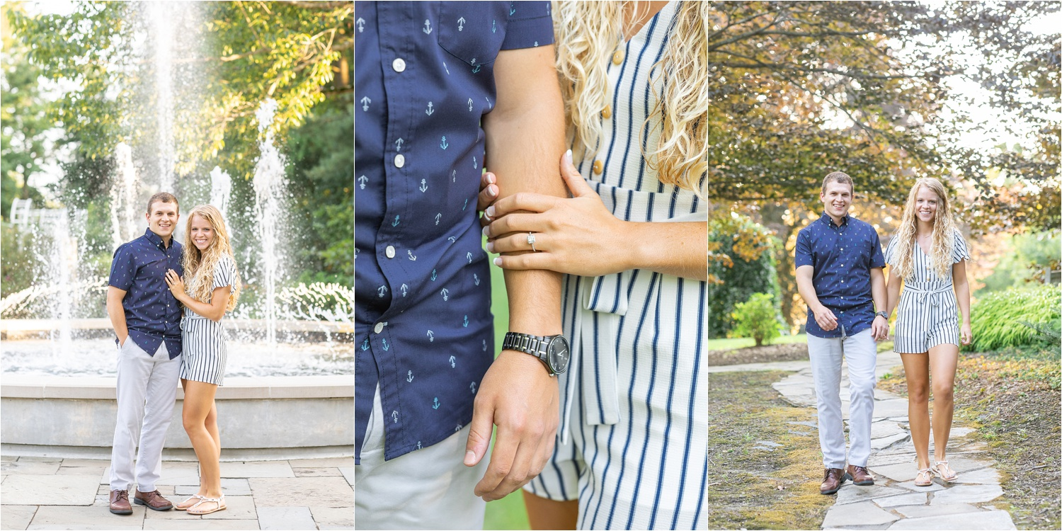 youngstown fine art light and airy engagement photos at fellows riverside gardens in july 2019
