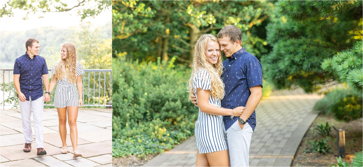 fine art bright & airy engagement photos at fellows riverside gardens july 2019
