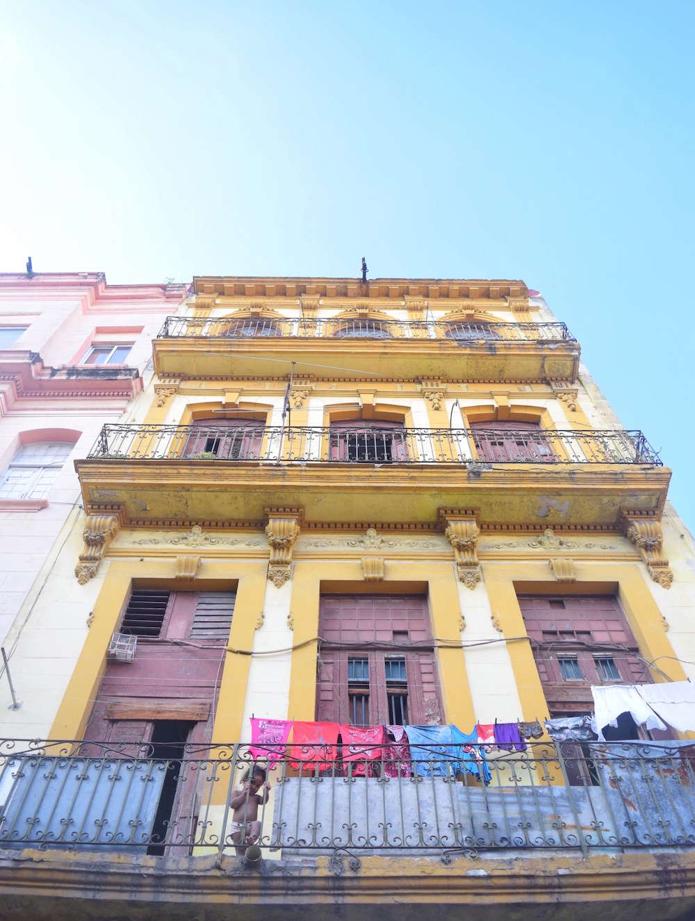 a colorful building in Central Havana