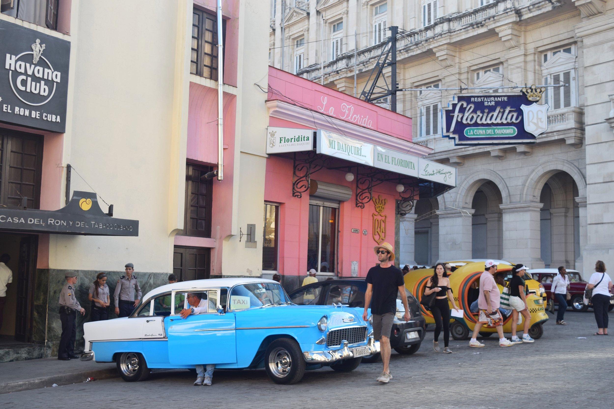One of the best places to eat in Havana Cuba. La Floridita home to the original daiquiri and a favorite of hemingway! -  Tessa Juliette | http://travelwheretonext.com/cuba