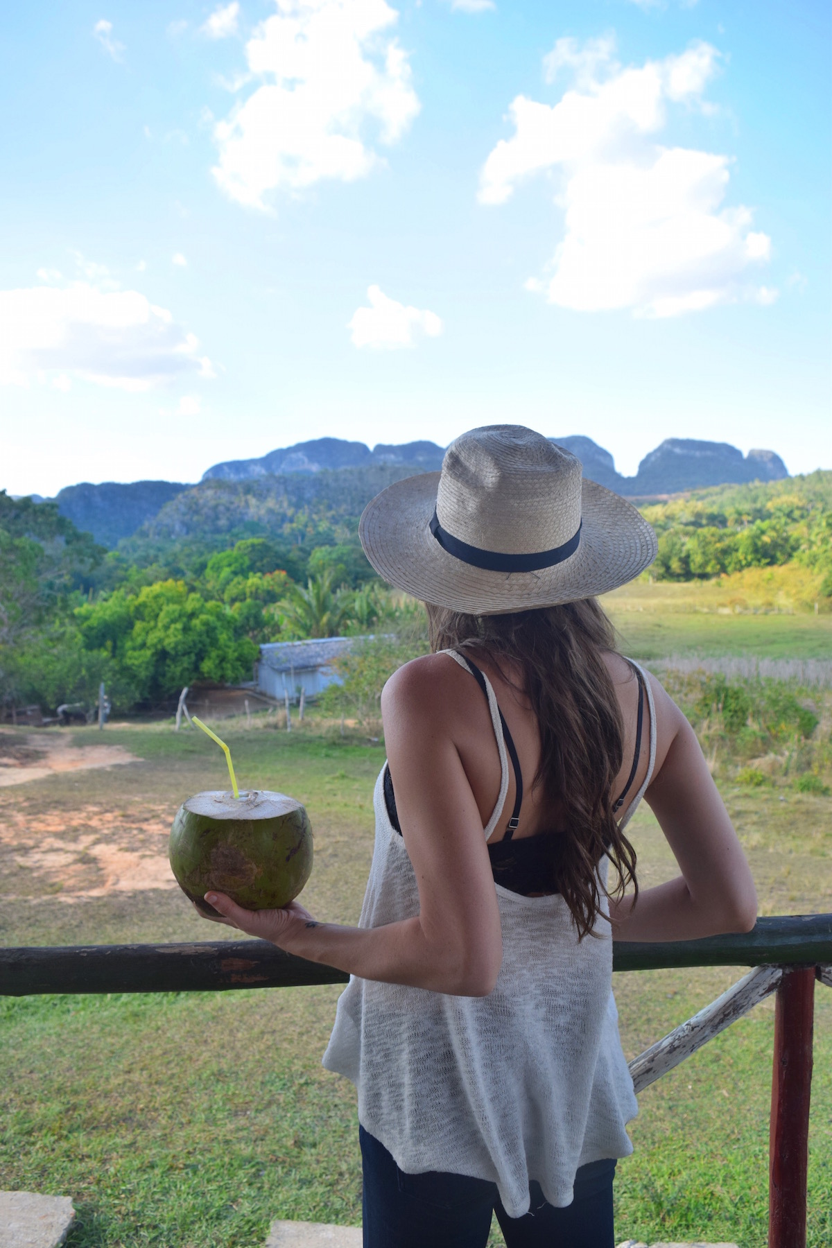 a lookout cafe while in vinales - enjoying some fresh coconut juice is the best way to take in the view. -  Tessa Juliette | http://travelwheretonext.com/cuba