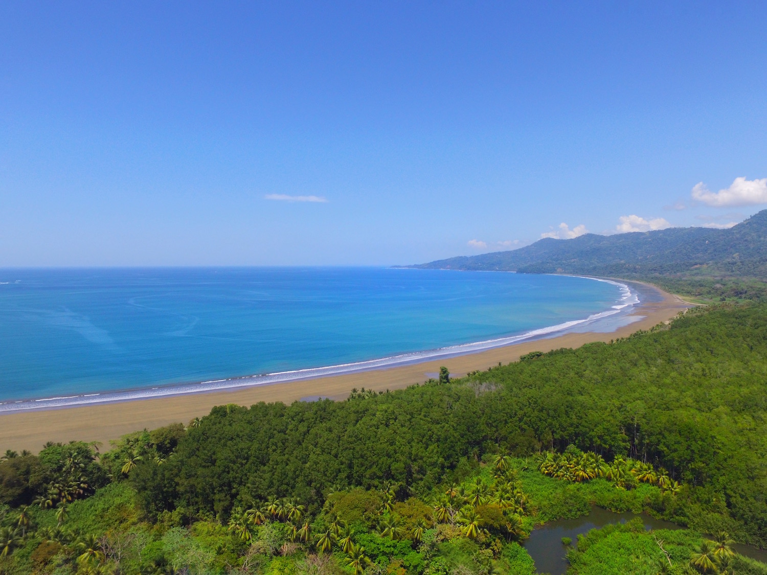Beautiful coastline and beaches of Dominical and Uvita Costa Rica