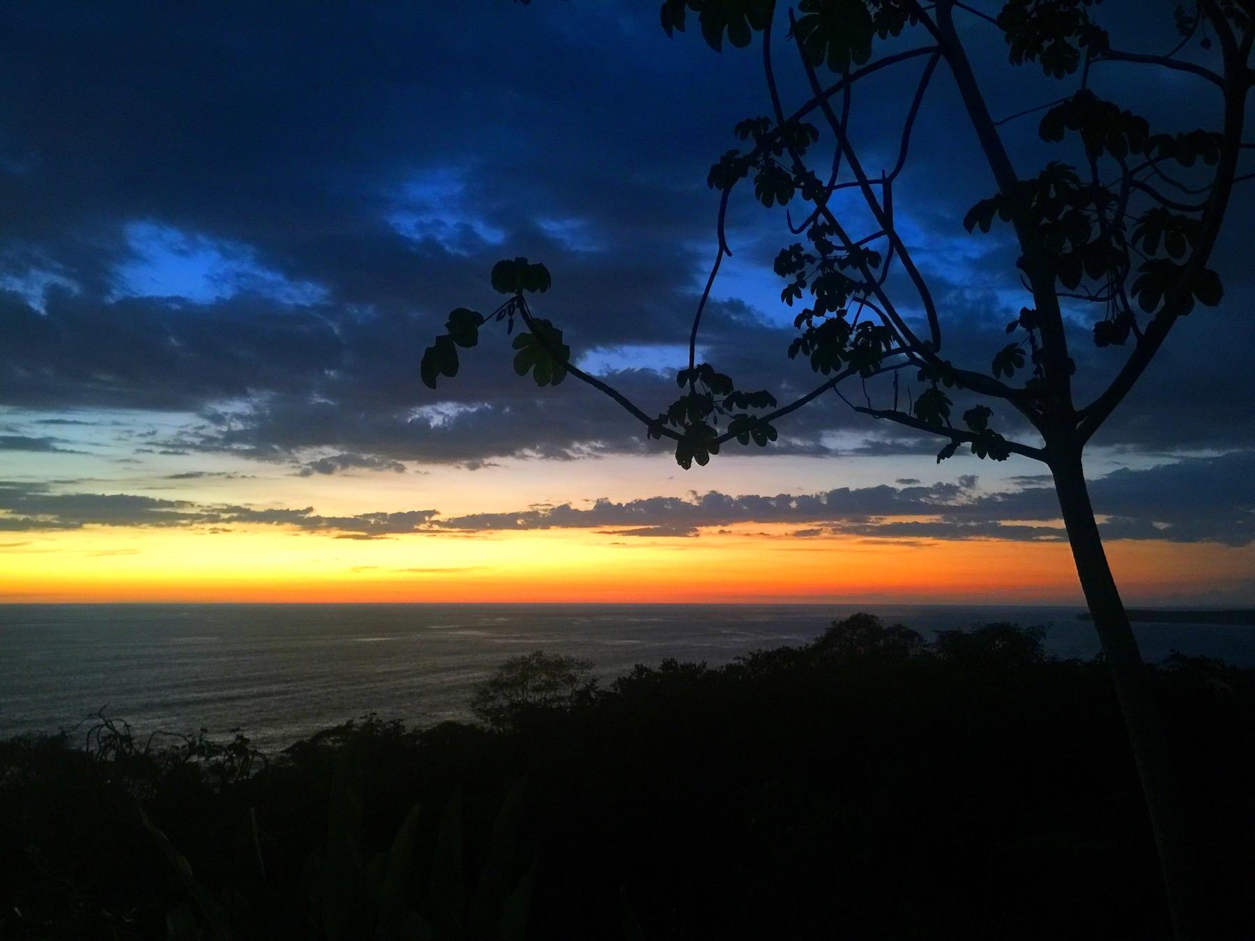 Sunset from La Cusinga Hotel Costa Rica