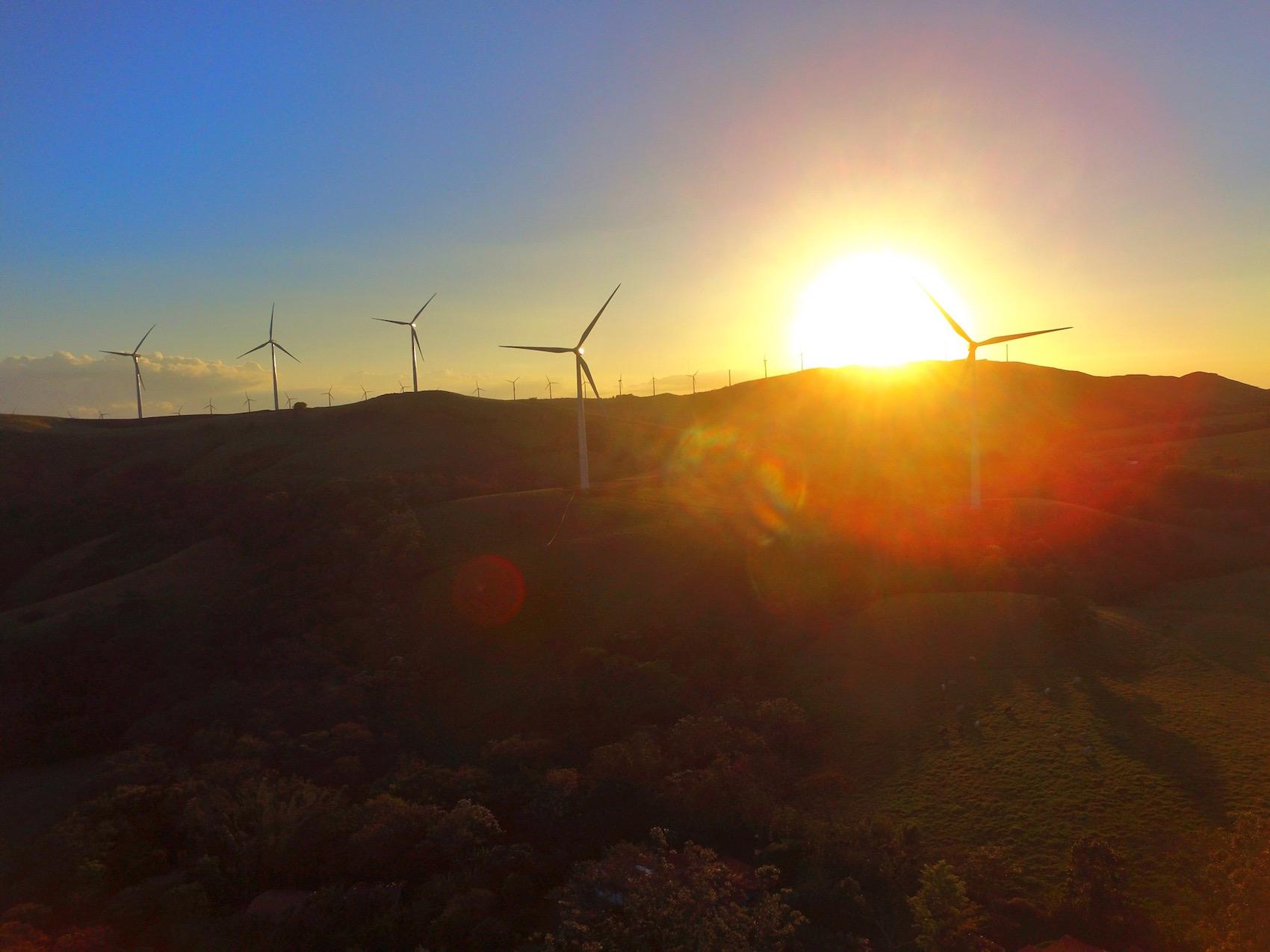 Windturbines at Hotel Mystica Costa Rica