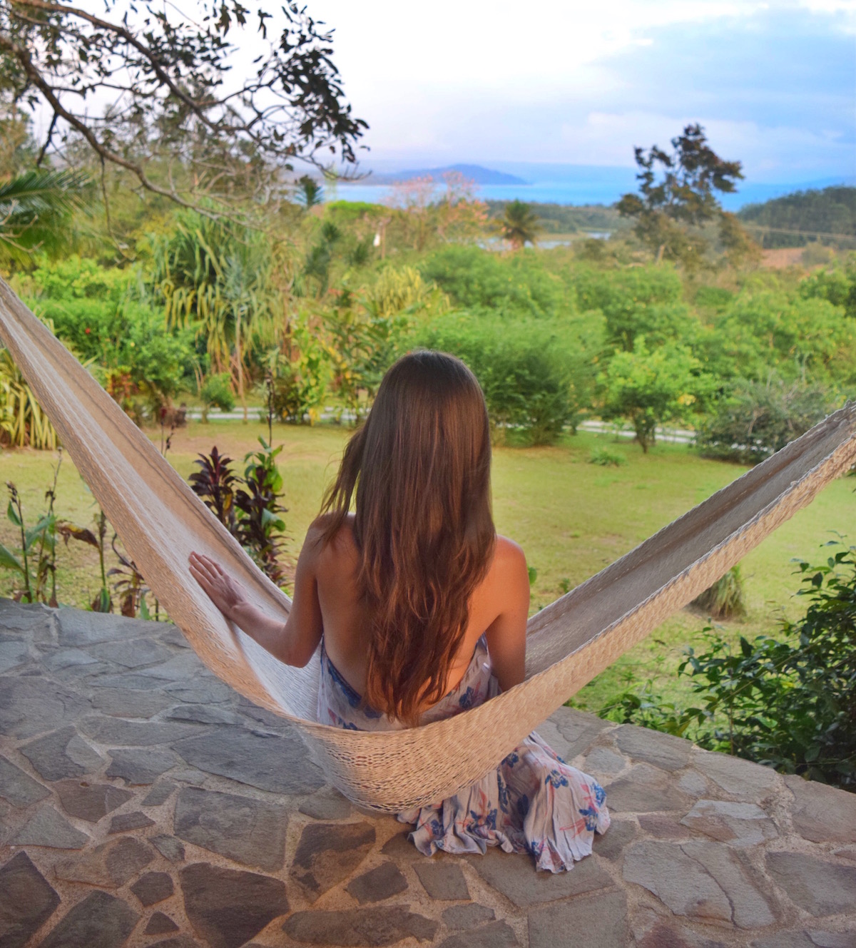 relaxing on the deck at Hotel Mystica Costa Rica
