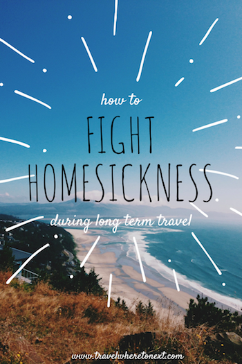 5 Tips for fighting homesickness during long term travel - - http://travelwheretonext.com