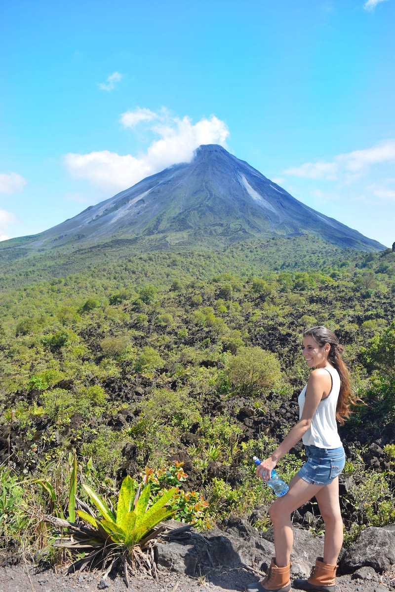Hiking in mirador el silencio on the 1968 lava trail that surrounds Arenal Volcano in Costa Rica.  Tessa Juliette   Travel Where to Next http://travelwheretonext.com