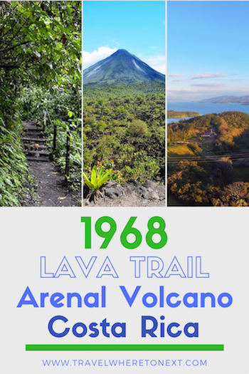 Hiking around the Arenal Volcano is one of the best things to do while in Costa Rica. But the best hiking trail in all of Arenal is the 1968 lava trail. Click on to read more about how to get to the 1968 lava trail and how long the hike takes.  Tessa Juliette   Travel Where to Next http://travelwheretonext.com