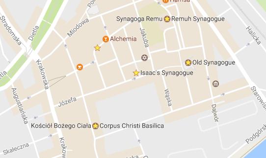 Map of the Old Jewish Quarter in Krakow - Kazimierz District  Tessa Juliette http://travelwheretonext.com