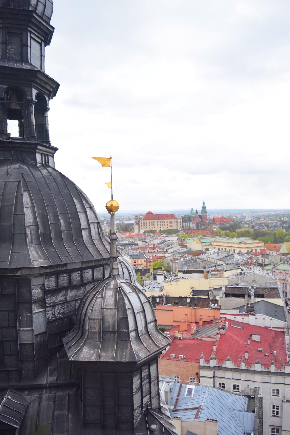 St Marys Church Tower View - Krakow Poland